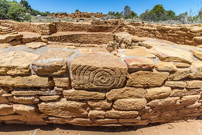Spiral at the Pipe Shrine House in Mesa Verde National Park in Colorado