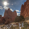 Sun Burst over Garden of the Gods