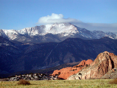 Pikes Peak Range and Garden of the Gods