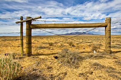 Colorado Mountain and Fence