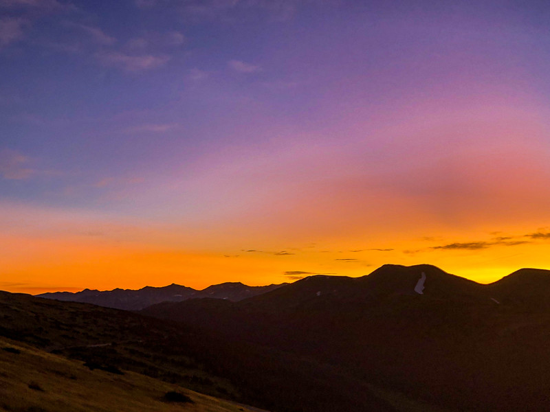 Sunset on Trail Ridge Rd