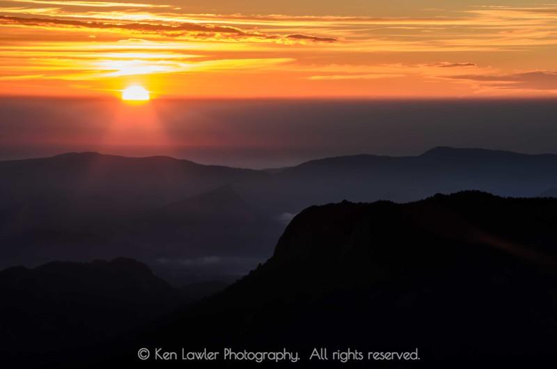 Rocky Mountain sun rays
