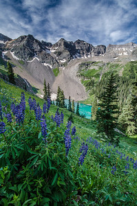 Blue Lakes Hiking Mt. Sneffels Wilderness Ridgway Colorado