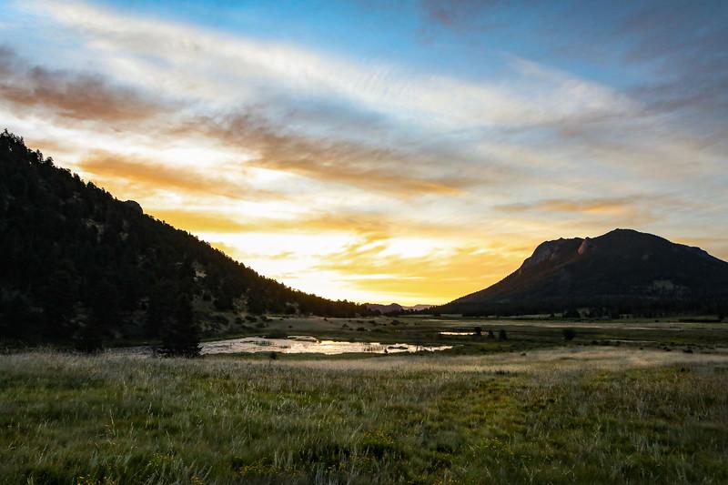 Sunrise over Sheep Lakes