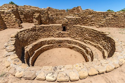 Kiva at the Far View House in Mesa Verde National Park in Colorado