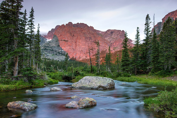 Loch Vale at sunrise, RMNP