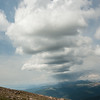 An afternoon thunderstorm as seen from Mt. Bierstadt.