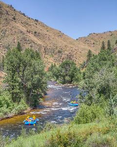 Couche la Padre River, Bellvue, Colorado, USA
