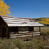 Cabin and Yellow Aspens