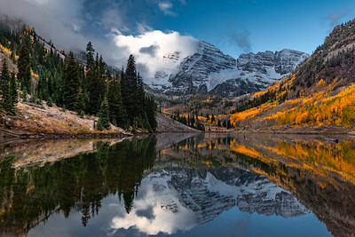Steamy Maroon Bells