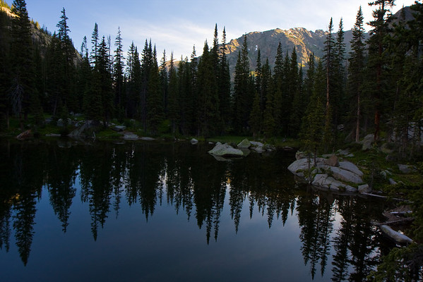Looking North from our campsite across Mirror Lake.
