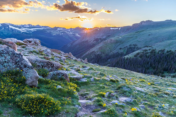 Sunset in Rocky Mountain National Park, Colorado