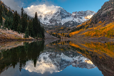 Maroon Bells Late Light