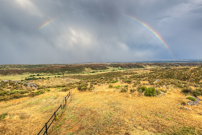 Rainbow seen from back deck of my friend's house in Loveland, Colorado, USA