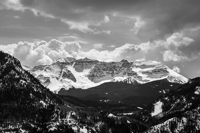 Colorless Rocky Mountain Vista