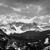 Colorless Rocky Mountain Vista