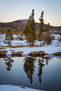 Spring Reflections at Big Creek Lake
