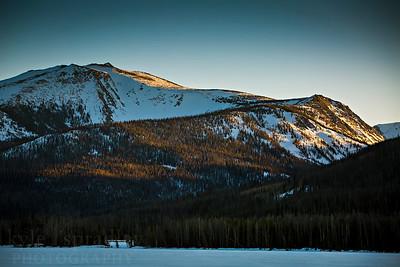 Peaks above Big Creek Lake