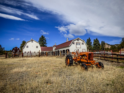Pine Colorado Barn and Tractor
