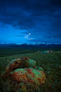 Moon Above Walden Range