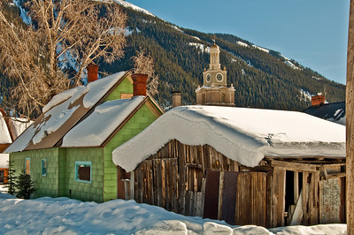 Silverton Colorado in the winter.