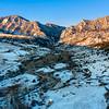 Winter Aerial Sunrise Eldorado Canyon