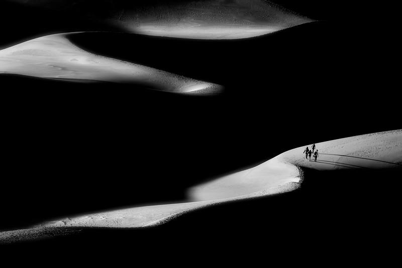 Dune Hikers at Last Light