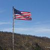 United States Flag with Burned Out Forest Near Freemon's, Between Creede and Lake City Colorado