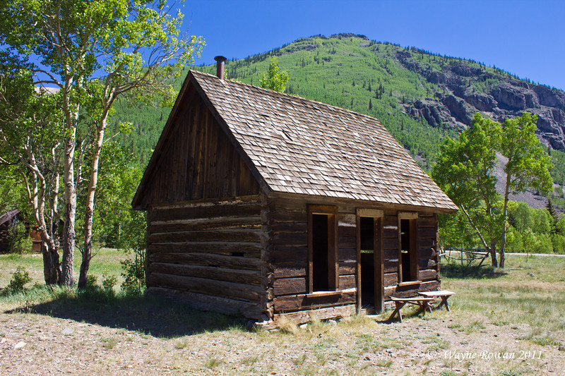 Cabin with Green Aspens