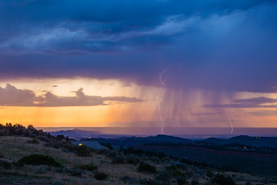 Lightning seen from back deck of my friend's house in Loveland, Colorado, USA