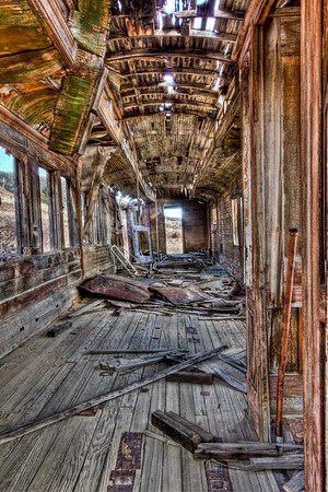 Wooden Train Car Victor Colorado