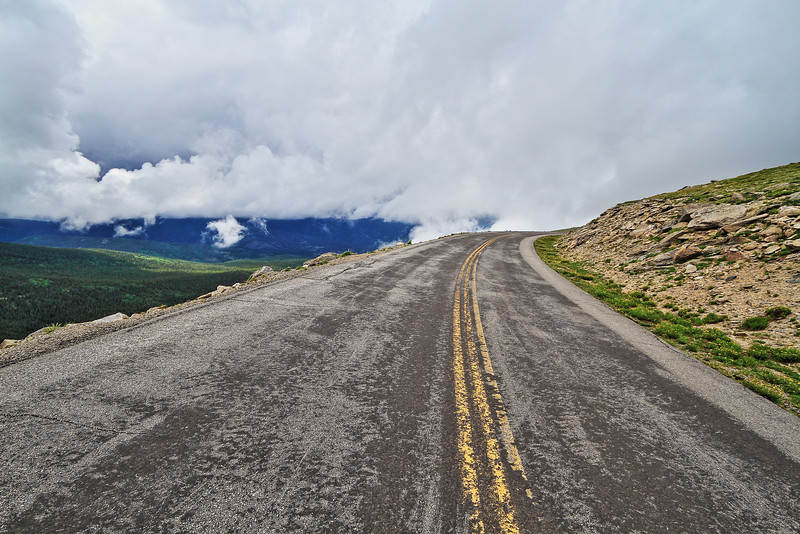 Road leading up to Mount Evans