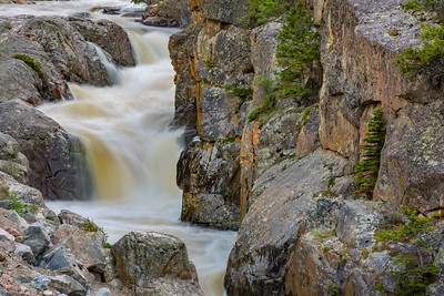 Along the Cache la Poudre River in northern Colorado is the picturesque Poudre Falls.  Photo by Kyle Spradley | © Kyle Spradley Photography | www.kspradleyphoto.com