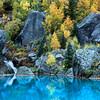Cascade and fall foliage in Telluride, Colorado