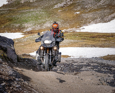 Chad Warner rough terrain riding to Imogene Pass, CO