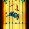 Fish and Eagle Stained Glass