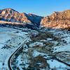 Sunrise Aerial Eldorado Canyon