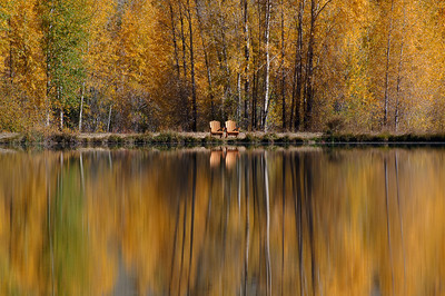 Fall Seating.  Castle Lakes, Colorado. Nearby the town of Lake City.
