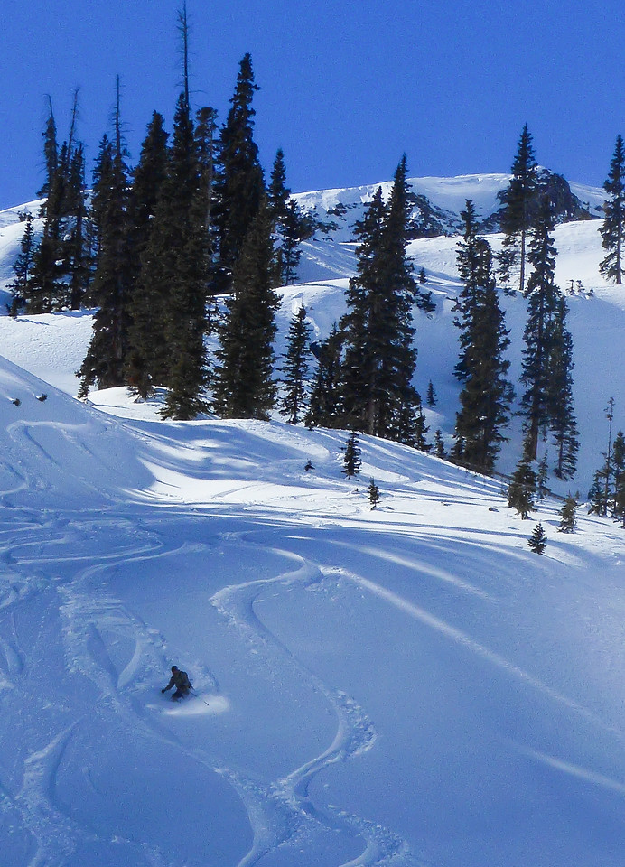 Skier in Red Mountain Pass