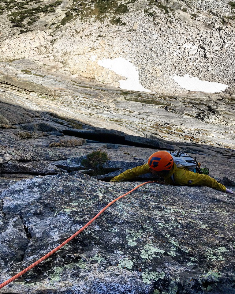Climber on Northeast Face of Spearhead