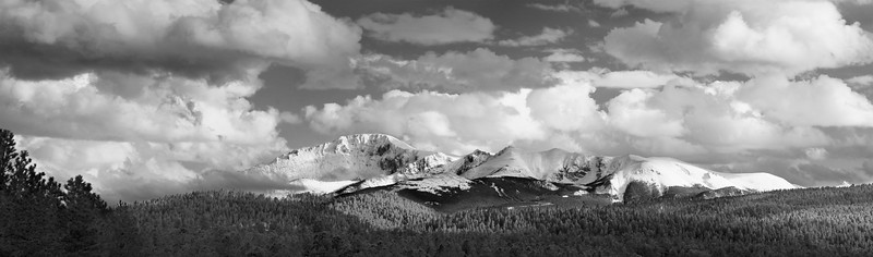 Pikes Peak from Rte. 67 Woodland Park