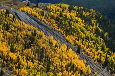 Slag and aspens near Red Cliff
