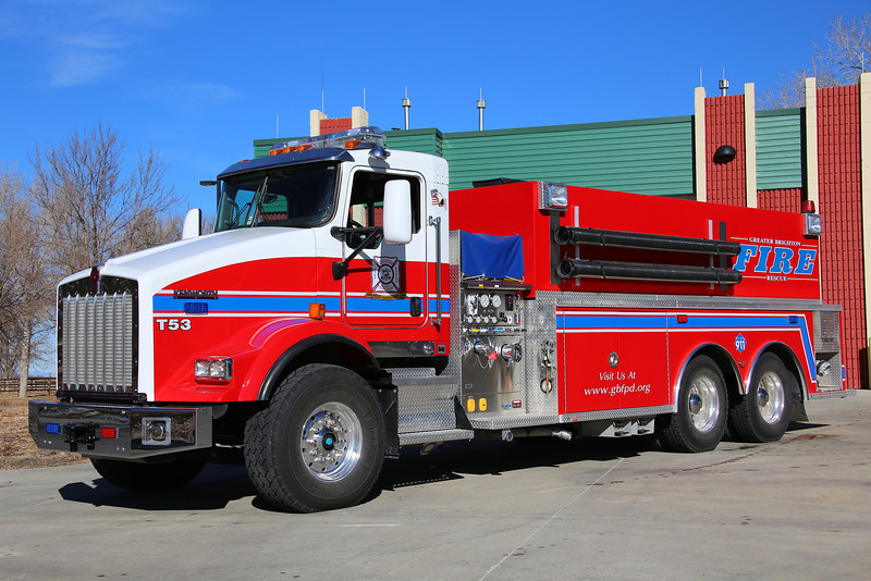 Tender 53<br /> 2009 Kenworth / Wolverine 3000 Gallons / 500 GPM and 4000 Gallon Porta-Pond.