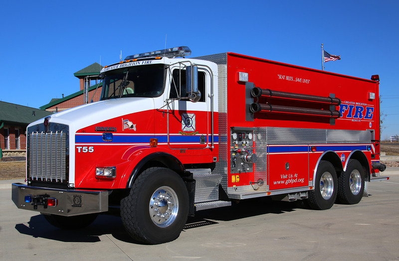 Tanker 55 <br /> Kenworth / Welch 3800 Gallons / 500 GPM and a 4,000 gallon porta-pond.