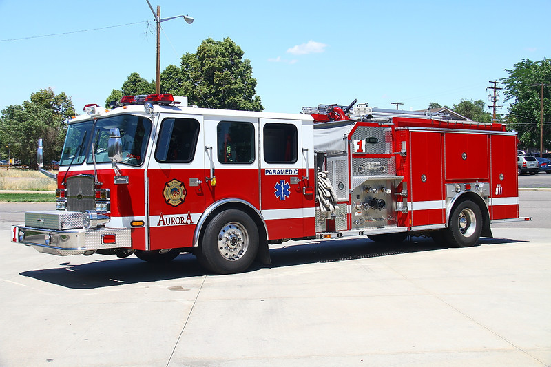 Aurora Paramedic Engine 1 - 2012 E-One Cyclone II with a 500 gallon water tank & 1500 gpm pump