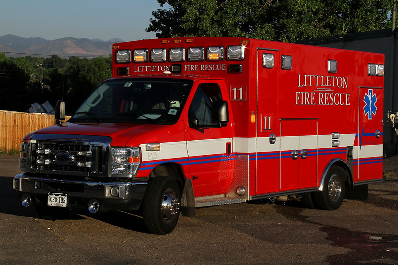 Medic 11 operates this 2011 Ford / Bruan, stationed in Downtown Littleton