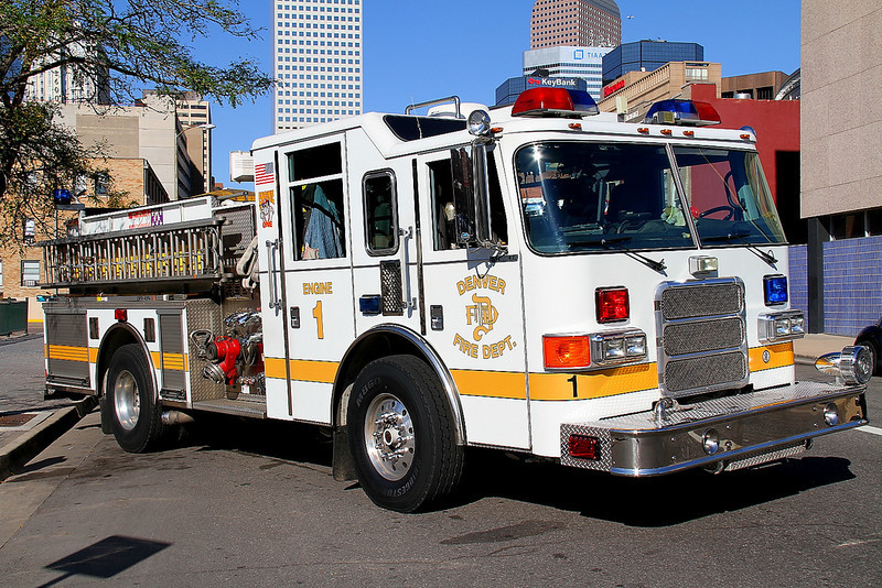 Denver Engine 1, stationed in Downtown Denver and cross-staffs the Under Water Rescue.  Taken on at 13th & Tremont Street