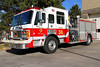 Denver Engine 36, housed in the City of Sherian at Oxford Avenue & Federal Blvd.  E36 operates one of only two ALF Engines in the DFD Fleet, it is the former Sheridan FD Engine 52.  This is the only red frontline unit at DFD.