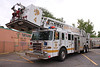 Denver Tower 4, stationed at 19th & Lawrence in Lower Downtown.  Photo taken at a structure fire in North Denver.