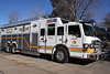 Denver Rescue 1, housed at Station 11 at 2nd & Broadway.  The Rescue responds citywide on all structure fires, rollover & extrication accidents, haz-mat's, tech rescue and water rescue calls.  The unit is staffed with an officer, engineer and two firefighters, all are Technicians.